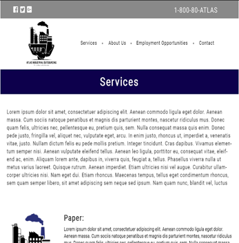 Custom Website Design, Website Design Samples